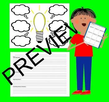 Opinion Graphic Organizer for Writing - 3 Paragraph by
