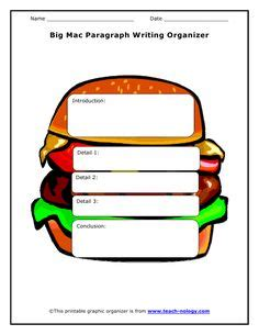 Free 3 paragraph essay graphic organizer